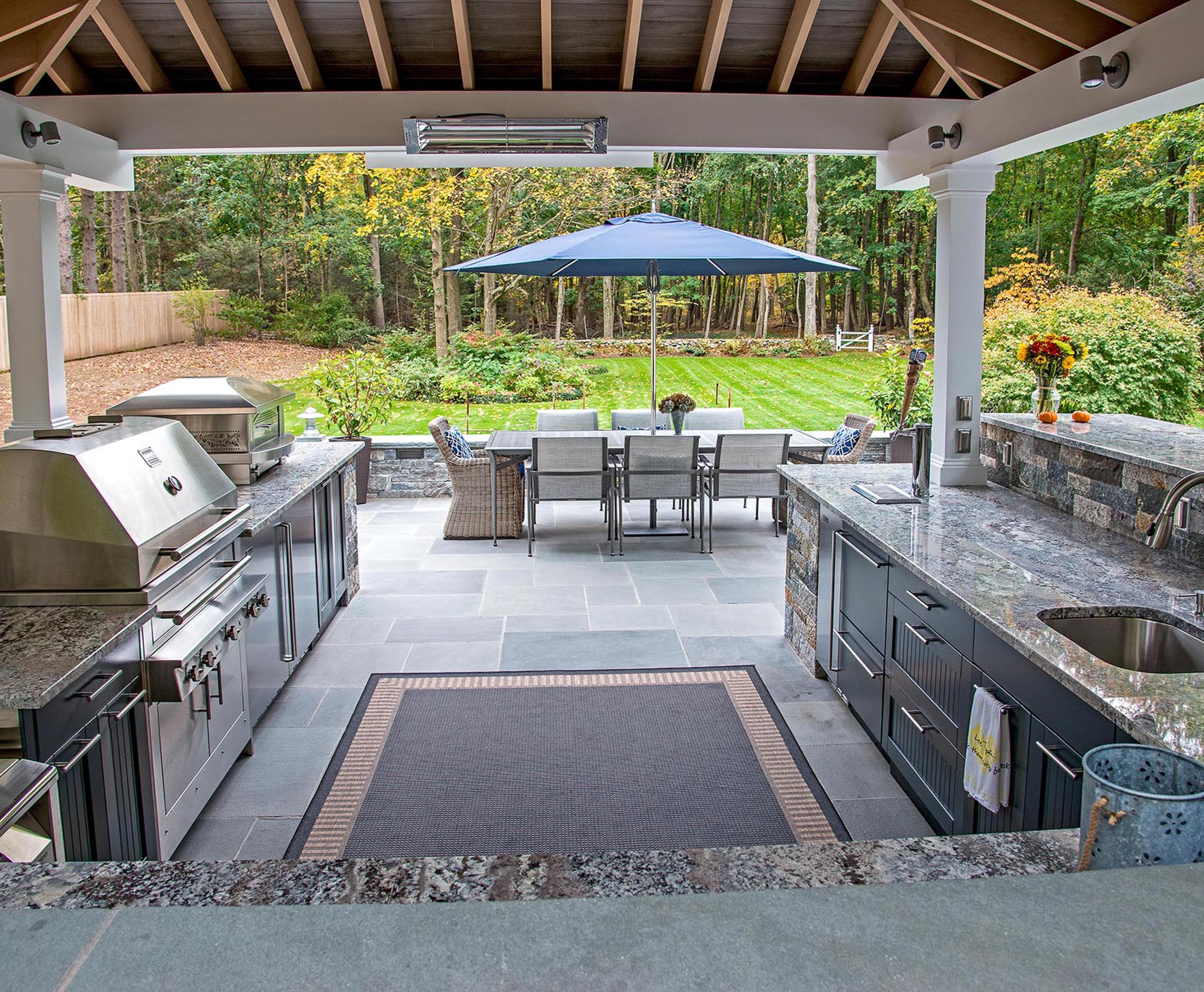 Outdoor kitchen ideas upgrade your barbecue area to for Outside barbecue area design